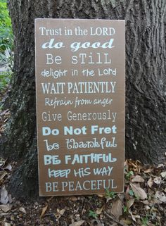 Trust in the Lord Hand Painted Sign by PurePaintedSigns on Etsy, $65.00