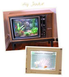 Diy Fish tank entertainment center | Future home ...