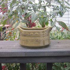 Mid Century Gravy Boat  Olive Ironstone by SimplySuzula on Etsy