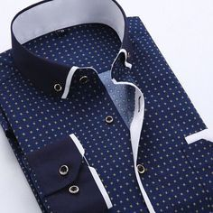 Men Dress Shirt 2016 Spring New Arrival Button Down Collar High Quality Long Sleeve Slim Fit Mens Business Shirts S-4XL YN026