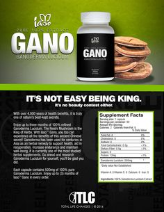 TLC's Gano Product One Sheet – Total Life Changes™  To Order: https://www.totallifechanges.com/charmcrenshaw My IBO Number: 6628311 Email me: ElainesTLC@gmail.com