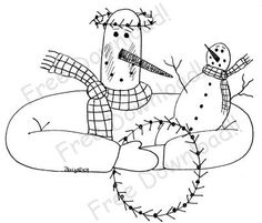 Free Snowman Patterns | Free Winter Snowman pattern | Embroidery