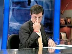 Stephen Colbert, political satirist, writer, actor & comedian. Widely known for The Colbert Report, he'll soon be taking over for David Letterman on The Late Show.