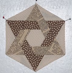 Lily's Quilts: Hexalong - in between the lines
