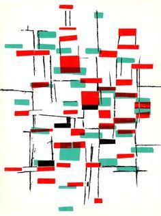 Back of Design Quarterly 35. Published by the Walker Art Centre, Minneapolis, 1956. Via Vintage Scans & Typetoy