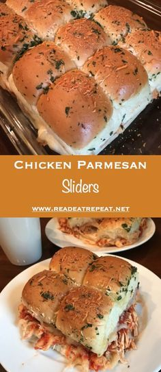 Chicken Parmesan Sliders are great for feeding a crowd! Dinner For Crowd, Christmas Dinner For A Crowd, Meals For A Crowd, Brunch Ideas For A Crowd, Appetizers For A Crowd, Recipes For A Crowd, Cooking For A Group, Cooking Games, Chicken Sliders