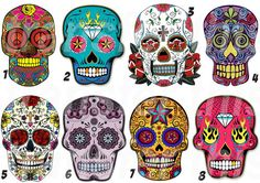 """MEXICAN SUGAR SKULL IRON ON TRANSFER , ready for making my girl a t-shirt with this and heat transfer vinyl. """"Keep Calm & Love a Tattooed Woman"""" :) :)"""