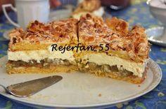 Stachelbeertorte mit Mandelbaiserdecke No Bake Cake, Banana Bread, Cake Recipes, French Toast, Food And Drink, Sweets, Cookies, Baking, Breakfast