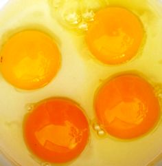 Egg yolk colour and shell information