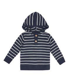 Love this Navy Stripe Breton Hoodie - Infant & Toddler on #zulily! #zulilyfinds