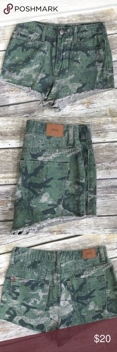 """BDG : Camo High Rise """"Cheeky"""" Shorts BDG camo shorts. High Rise Dree Cheeky. From Urban Outfitters. Size 26. No holds or trades.  Bundle to save💸. BDG Shorts"""