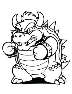 Bowser Coloring Pages Perfect