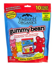 Another great find on #zulily! Organic Gummy Bears Snack Pack - Set of Three #zulilyfinds