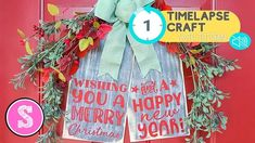 Trick to Get Crisp Paint Lines on Wood Signs | Silhouette School Blog Silhouette School Blog, Silhouette Projects, Silhouette Vinyl, Paint Line, Vinyl Projects, Craft Projects, Merry, Rustic Wood Signs, Christmas Gifts