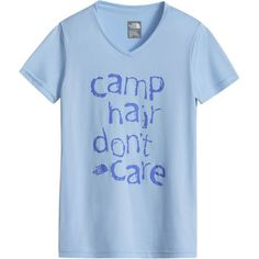 The North Face Girls' Reaxion T-Shirt is a cute, colorful, and spunky choice for summer camping trips and the first day back to school.