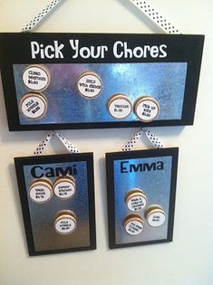 Pick your chores and allowance. neat idea!