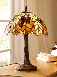 Schwartinsky Tiffanylampe -Høstløv- Cheer Up Gifts, Lamp Shades, Relax, Table Lamp, Tiffany, Lighting, Glass, Beautiful, Autumn