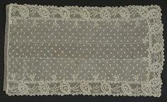 Man's Cravat France, circa 1795 Costumes; Accessories Linen lace 11 x 6 1/2 in. ( 27.94 x 16.51 cm) Purchased with funds provided by Mr. and...