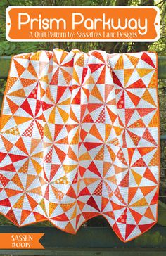 Prism Parkway Quilt Pattern – Sassafras Lane Designs - really like this pattern, paper piecing makes the points nice and crisp, like the pointed edge.