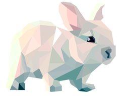 Bunny Geometric Art | pinterest.com/emilylan752