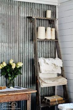 Ways to use corrugated metal