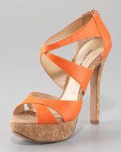 Alexandre Birman Cork-Platform Strappy Sandal. Perfect for summer!