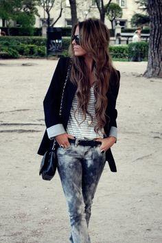 Boyfriend Blazer and those jeans!