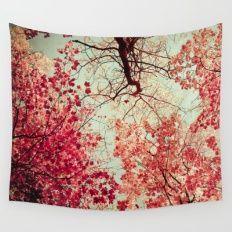 Autumn Inkblot Wall Tapestry