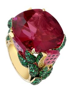 Rubellite cocktail ring | My Style / Limelight Watermelon Dream cocktail inspiration ring in ...