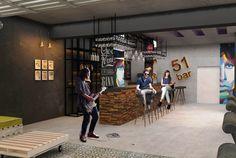 Cafe Bar, Basketball Court, Interior Design, Nest Design, Coffee Cozy, Home Interior Design, Interior Designing, Home Interiors, Apartment Design