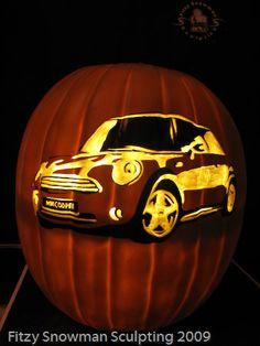 Mini Cooper foam pumpkin