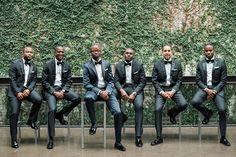 Groomsmen's Attire: The Black Tux - http://www.stylemepretty.com/portfolio/the-black-tux Groom's Suit: My Suit - http://www.stylemepretty.com/portfolio/my-suit- Groom's Attire: The Black Tux - http://www.stylemepretty.com/portfolio/the-black-tux   Read More on SMP: http://www.stylemepretty.com/2017/03/13/saying-i-do-at-the-most-romantic-urban-garden-escape/