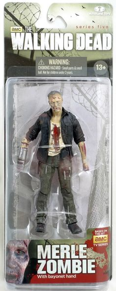 Todd McFarlane toys AMC's THE WALKING DEAD 2014 series 5, MERLE ZOMBIE bayonet hand NEW still factory sealed in the original package. figure size: approx. 5 inches tall condition: Package is in overal