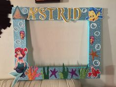 Marco gigante de la sirenita Little Mermaid Birthday, Little Mermaid Parties, Party Frame, Bubble Guppies Party, Girl Birthday Decorations, Birthday Frames, 4th Birthday Parties, Party Themes, Party Ideas