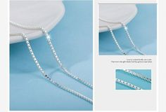 Wholesale Lot 10PCS Box Chain Necklace 1mm 18 Inches 925 Sterling Silver Hot  #Unbranded #Chain