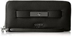 Darby Large Zip Around Wallet, black, One Size