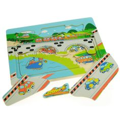 This clever little puzzle will keep inquisitive minds busy for hours! Featuring several brightly coloured layers of different transport scenes and many pieces to take out, it is ideal for early learners of 3 years+ to develop their coordination, dexterity and imagination. There is plenty to look at and discuss, making it ideal for individual or shared play.