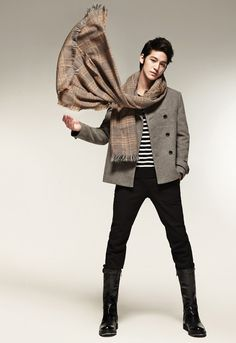 Kim Bum (Korean men dress so much better than American men)