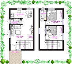 15ft*25ft North Facing Duplex House Plan in Tirupathi, Andhra Pradesh