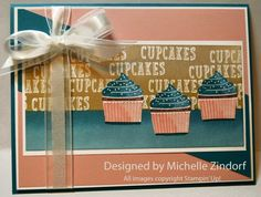 3 Cupcakes - MZ by Zindorf - Cards and Paper Crafts at Splitcoaststampers