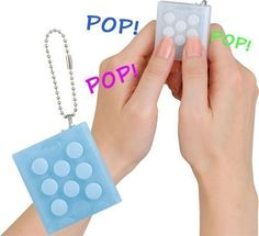 Bubble Wrap Keychain Thumbsup