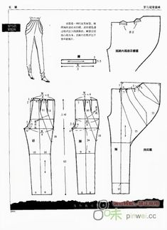 modelist kitapları: PANTS ( method of pattern making) Pattern Cutting, Pattern Making, Dress Sewing Patterns, Clothing Patterns, Shirt Patterns, Doily Patterns, Diy Clothing, Sewing Clothes, Barbie Clothes