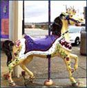 MERIDIAN, MS - Around Town Carousels Abound is an amazingly fun outdoor public art project. There are over 50 brightly decorated carousel horses created by the talented hands of local and regional artists, each with their own theme and story. The horses have been sponsored by businesses and individuals and placed in prominent locations around the city