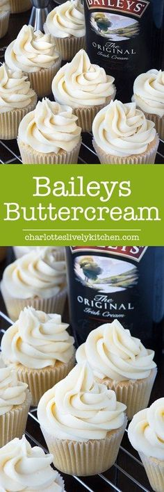 I can now top my cakes with my favourite drink with this delicious, smooth Baileys buttercream! (Cup Cake Recipes)