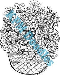 KPM Doodles Coloring page Secret Garden 3 by kpmdoodles on Etsy