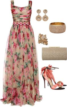 """""""Sin título #816"""" by pandrea712 on Polyvore I really like the dress.. the shoes would kill me."""