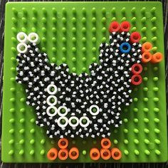 Rooster perler beads by linstod