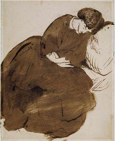 """Jane Morris Asleep""  -  Dante Gabriel Rossetti"