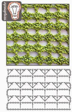 Would make a pretty Spring/Summer cowl Crochet Stitch - filet with fans Simple crochet stitch by shelby Crochet Stitch Pattern - open effect Several Crochet charts Crochet Stitches Chart, Crochet Diagram, Crochet Motif, Knitting Stitches, Crochet Lace, Knitting Patterns, Crochet Patterns, Crochet Simple, Confection Au Crochet