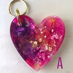 Your place to buy and sell all things handmade Diy Resin Keyring, Art Club Projects, Heart Keyring, Diy Resin Crafts, Resin Charms, Resin Molds, Resin Jewelry, Jewellery, Resin Art